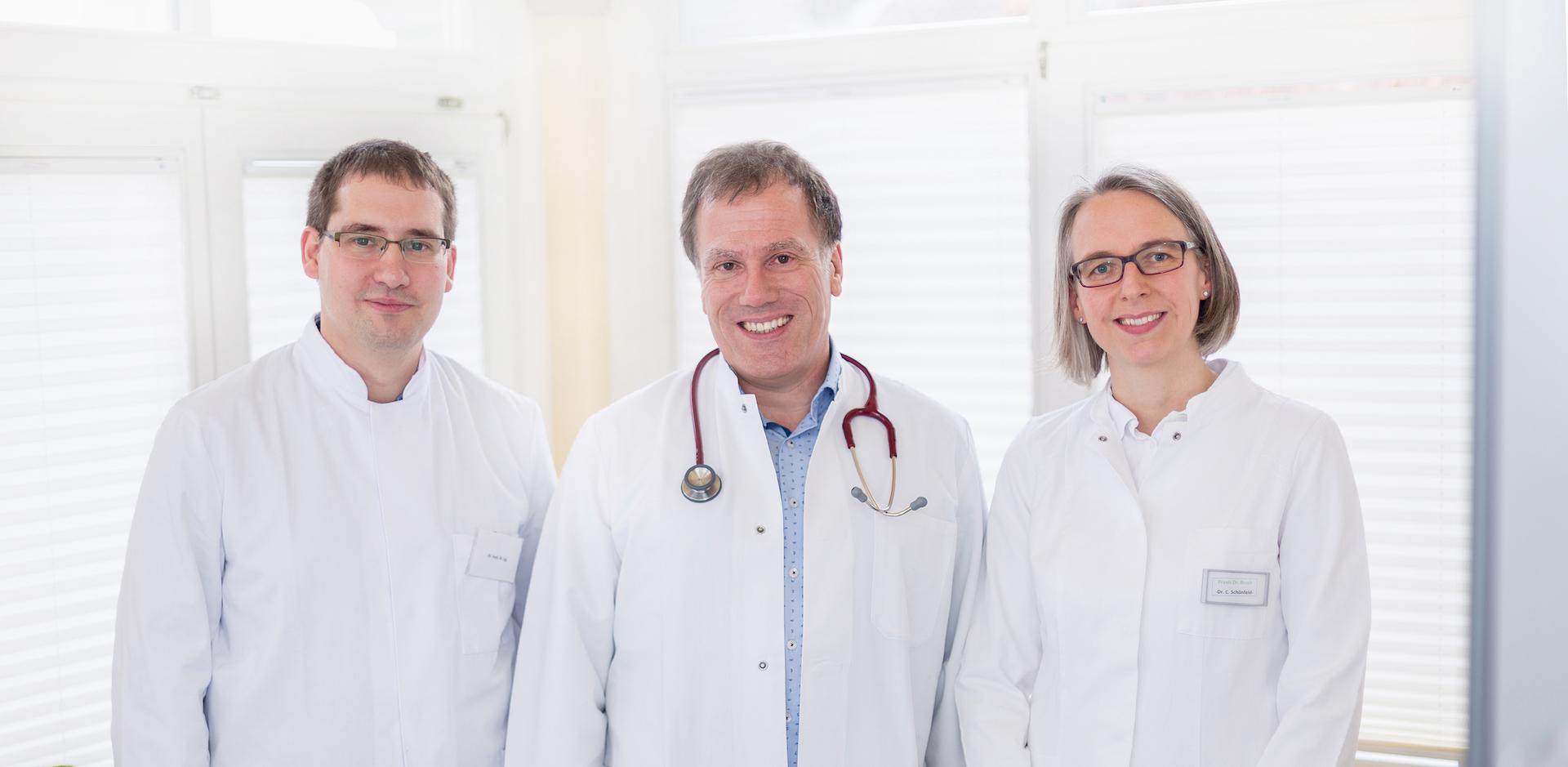 Dr. Eck, Dr. Brack und Dr. Schönfeld (von links nach rechts)