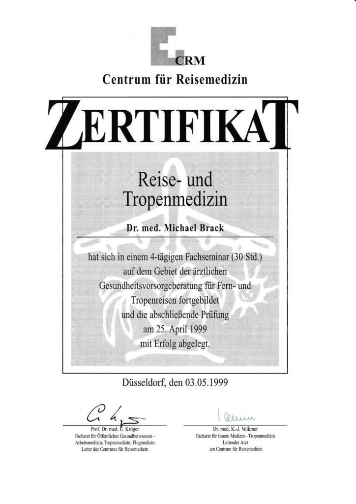 Zertifikat Reise- und Tropenmedizin